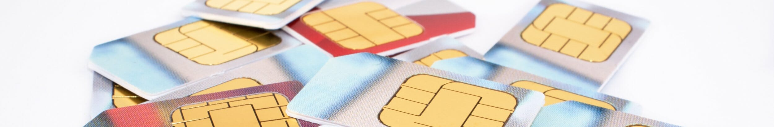 Stack of free mobile SIM cards