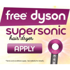 Apply for a Free Dyson Hairdryer