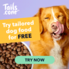 Free dog food from tails.com