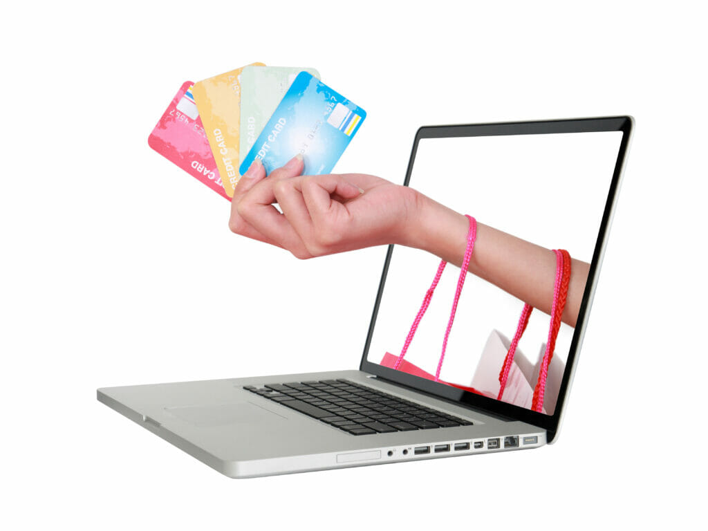 Gift cards coming out of laptop