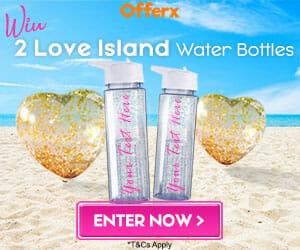 Love Island personalised water bottles