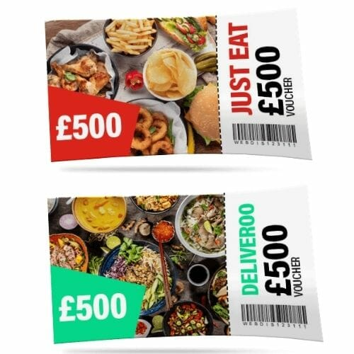 Win a £500 Deliveroo or Just Eat Voucher